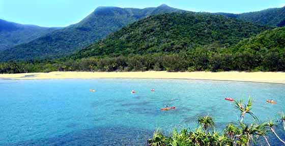 mount sorrow seen from cape tribulation