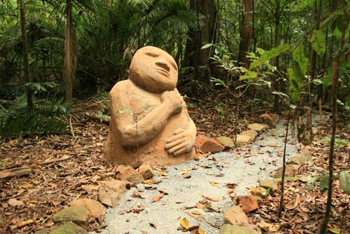 cement sculpture in the daintree