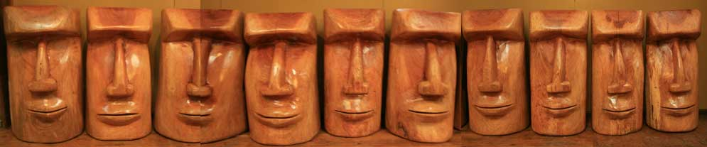 moai bar stools  for sale in the daintree