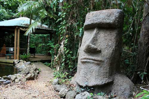 moai concrete sculpture