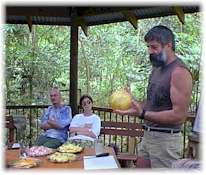exotic fruit tasting at the cape tribulation exotic fruit farm